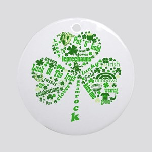 St Paddys Day Shamrock Ornament (Round)