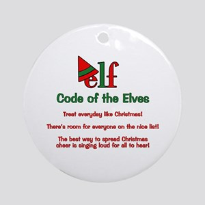 Elf Code of the Elves Ornament (Round)