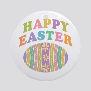 Happy Easter Egg Ornament (Round)