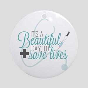 Grey's Anatomy: A Beautiful Day Round Ornament