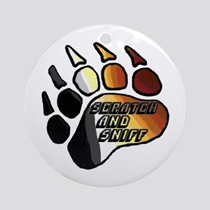 BEAR PRIDE PAW/SCRATCH/SNIFF Ornament (Round)