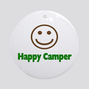 Happy Camper Ornament (Round)