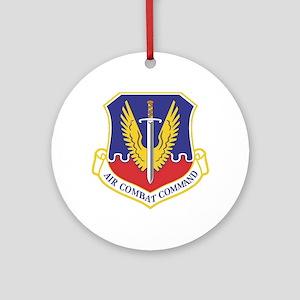 USAF Air Combat Command Ornament (Round)