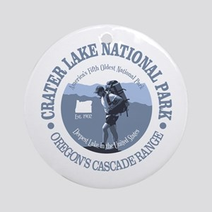 Crater Lake Round Ornament
