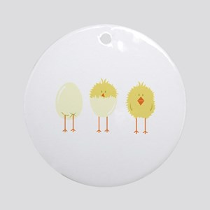 Hatched Chick Ornament (Round)