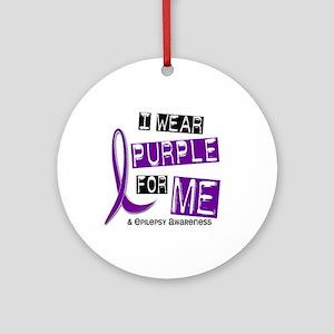 I Wear Purple 37 Epilepsy Ornament (Round)