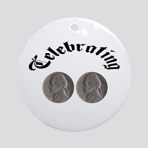 Celebrating the Double Nickle Ornament (Round)