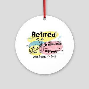 Retro Trailer Retired Ornament (Round)