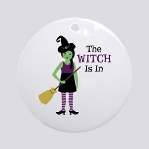 The Witch Is In Ornament (Round)