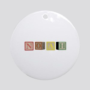 Noah Alphabet Block Ornament (Round)