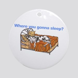 CH Where you gonna sleep Ornament (Round)