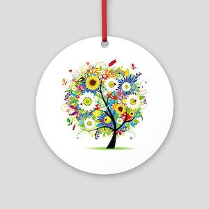 summer tree Ornament (Round)