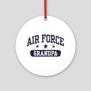Air Force Grandpa Ornament (Round)