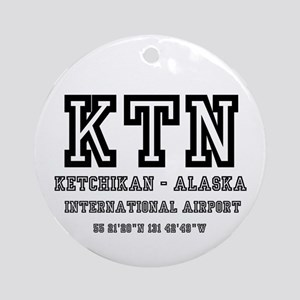 AIRPORT CODES - KTN - KETCHIKAN, AS Round Ornament
