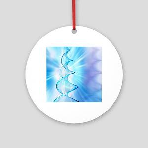 DNA molecule Round Ornament
