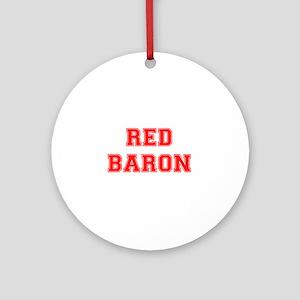 RED BARON! Round Ornament