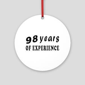 98 years birthday designs Ornament (Round)