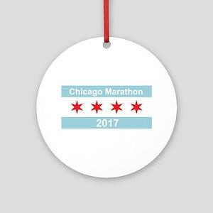 2017 Chicago Marathon Ornament (Round)