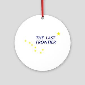 Alaska The Last Frontier Stat Keepsake (Round)