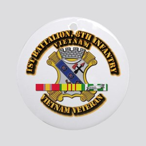 1st Battalion, 6th Infantry Ornament (Round)