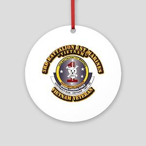 SSI - 3rd Battalion - 1st Marines USMC VN Ornament