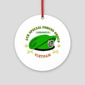 SOF - 5th SFG Beret - Vietnam. Ornament (Round)