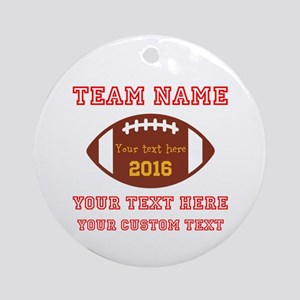 Football Personalized Round Ornament