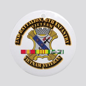 2nd Battalion, 8th Infantry Ornament (Round)