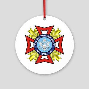 Post 327 logo Round Ornament