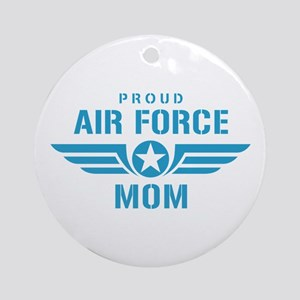 Proud Air Force Mom W Ornament (Round)
