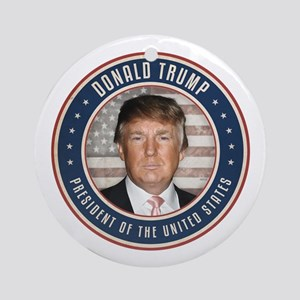 Vote Donald Trump President Round Ornament
