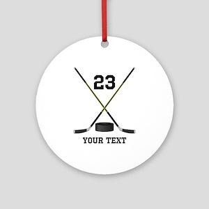 Ice Hockey Personalized Round Ornament