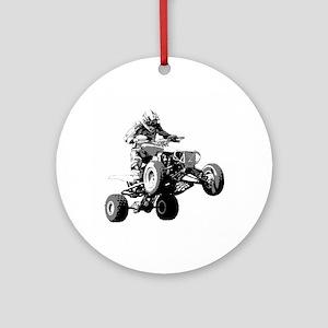 ATV Racing Ornament (Round)