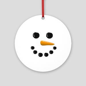 Snowman Face Ornament (Round)