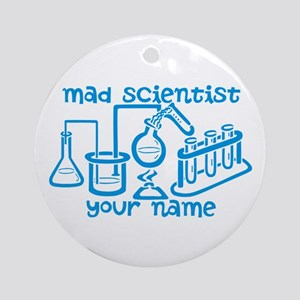 Personalized Mad Scientist Ornament (Round)