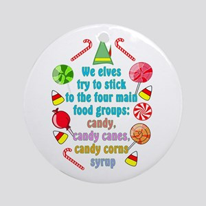 Elf Candy Ornament (Round)