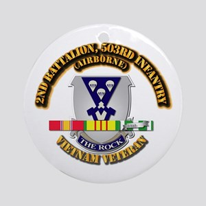 2nd Bn - 503rd Infantry (Airborne Ornament (Round)