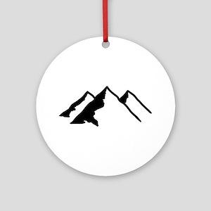 Mountains Ornament (Round)