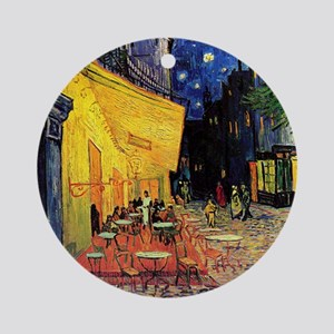 Van Gogh, Cafe Terrace at Night Round Ornament