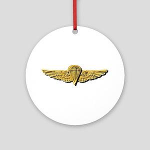 Navy - Parachutist Badge - No Txt Round Ornament
