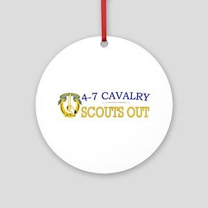 4th Squadron 7th Cavalry Ornament (Round)