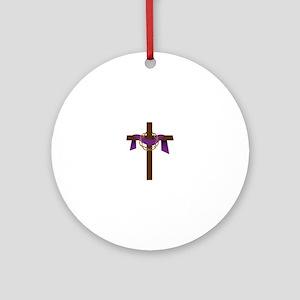Season Of Lent Cross Ornament (Round)