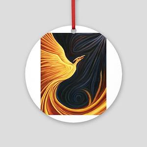 Phoenix Rising Round Ornament