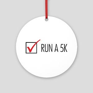 Run a 5k Ornament (Round)
