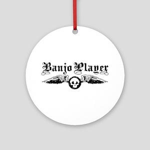 Banjo Player Ornament (Round)