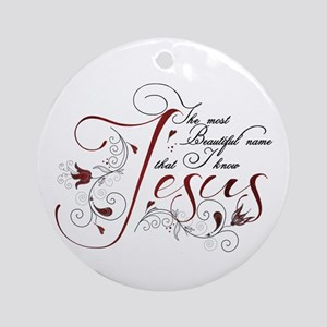 Beautiful name of Jesus Ornament (Round)