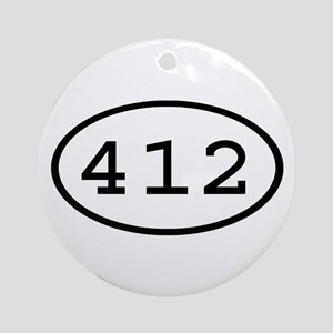 412 Oval Ornament (Round)
