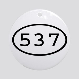 537 Oval Ornament (Round)