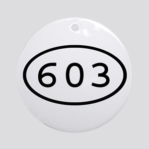 603 Oval Ornament (Round)