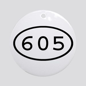 605 Oval Ornament (Round)